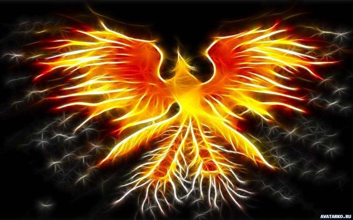 Фантастическая птица феникс